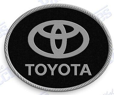 "TOYOTA  iron on embroidery patch 2.2 X 1.75""  EMBROIDERED auto car patches truck"