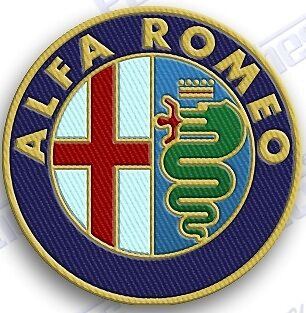 "ALFA ROMEO  AUTO CAR  SPORTS iron on embroidery patch 2.0"" X 2.0""  PATCHES.."