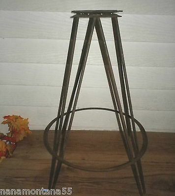 Eames Era Mid Century Modern 360° Swivel Chair Barstool Hairpin Iron Legs Base