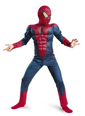 Spider-Man Movie Child Muscle Costume Size Large 10-12