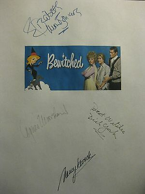 Bewitched Signed TV Script X4 Elizabeth Montgomery Dick York Agnes Moorehead rpt