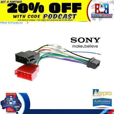 New Aeropro Sony To Iso Connector Plug Harness 16 Pin For Cdx-g1170u Unit Wiring