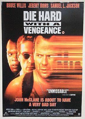 Die Hard With A Vengeance / Original Vintage Video Film Poster / Bruce Willis 2