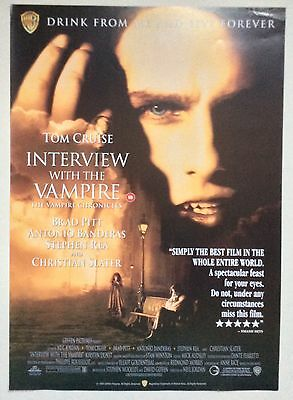 Interview With A Vampire / Original Vintage Video Film Poster / Tom Cruise 2