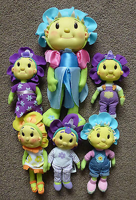 Fifi And The Flower Tots Job Lot Of 6 Soft Toys With Out Original Packaging
