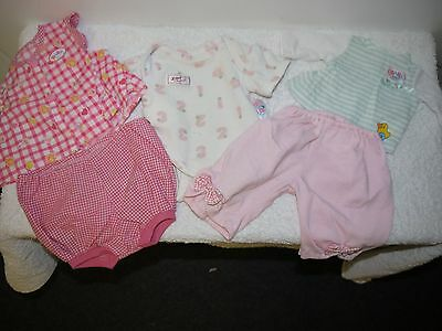 baby born doll clothes pink long pants play set top/pants onesie long sleeve top