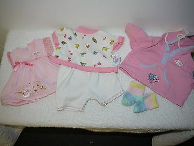 baby born doll clothes pink hoodie pink dress socks t shirt white shorts