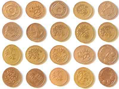 British £1 One Pound Coin Royal Arms Shield Cities Floral Queen UK 1983-2015