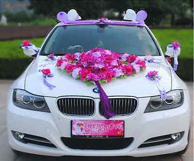 Flower Festooned vehicle wedding car decoration kit Korean car decoration suits