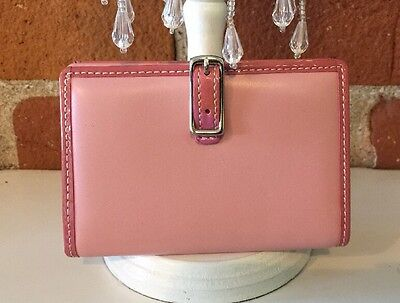 COACH Business Credit Card Holder Wallet ID Pink With Paten Trim