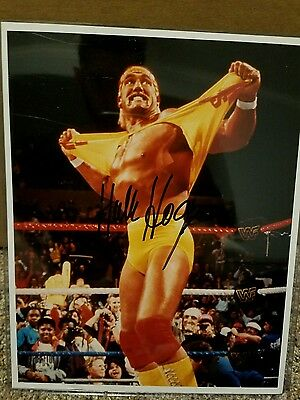 Hulk Hogan Autographed 8x10 Photo w/ COA WWF WWE WCW