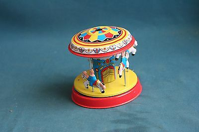 tin toy Horses Carousel mechanical 2000's game china