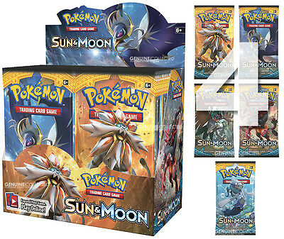 4 Booster x 10-Cards/Pack SM1 Sun & Moon Pokemon | Sealed English Genuine