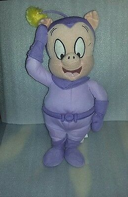"""Used - Duck Dodger Space Cadet Porky Pig Plush 16"""" Free Shipping"""