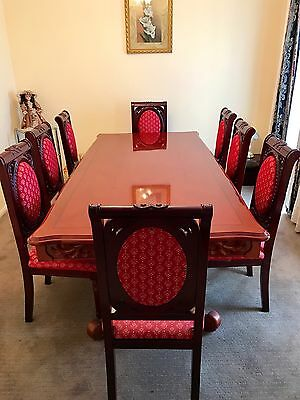 Fine Colonial Style Dining Table Set 8 Chairs Near New Download Free Architecture Designs Rallybritishbridgeorg
