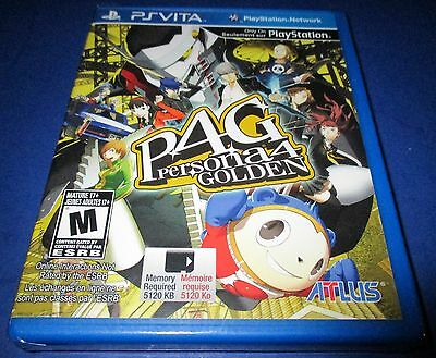 Persona 4: The Golden Sony PlayStation Vita *Factory Sealed! *Free Shipping!