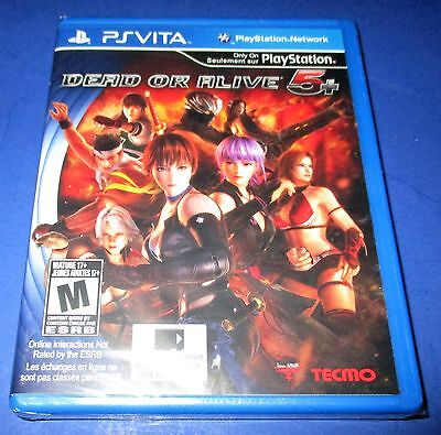 Dead or Alive 5+ Sony PlayStation Vita - PSV - *Factory Sealed! *Free Shipping!