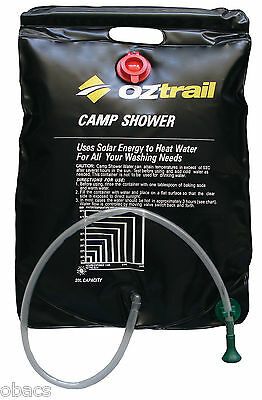 Oztrail 20 Litre Solar Camp Shower Camping Hot Water