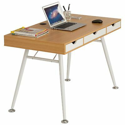 Retro Vintage Computer Laptop Writing Desk Drawers for Home Office Piranha Coley