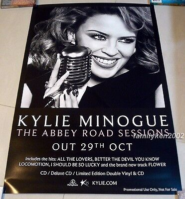 KYLIE MINOGUE Taiwan Promo Poster MINT! THE ABBEY ROAD SESSIONS kiss me once