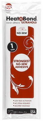 """HeatnBond Ultra Hold Iron-On Double Sided Paper Backed Adhesive-17"""" x 1 yd"""