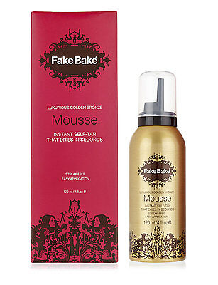 Fake Bake Instant Mousse Self-Tan 120ml Brand New