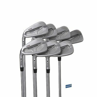 Ping S55 Left Handed Steel Irons 4-PW /  Stiff Shaft Ping CFS /  Black Dot