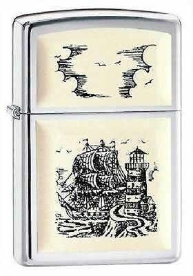 Zippo Accendino Scrimshaw Ship 359*classica Intramontabile*nuovo*new*lighter