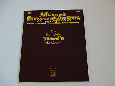 The THIEF'S Dieb Handbook Advanced Dungeons & Dragons 2nd Edition AD&D D & D