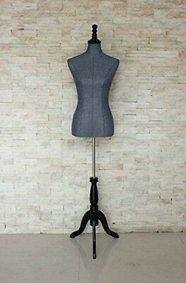 Grey Female Mannequin Torso Dress Body Form Clothing Display Tripod Stand New