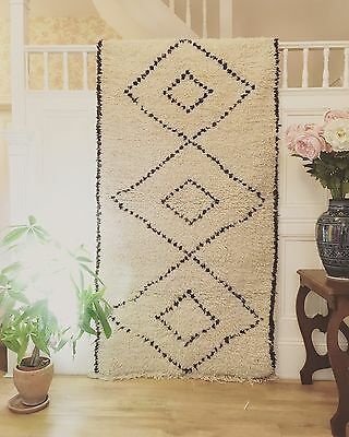 Large Beni Ourain Hand Made Ethically sourced Moroccan rug.