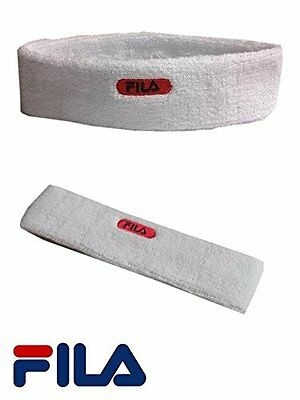 Fila White 1 Head SweatBand