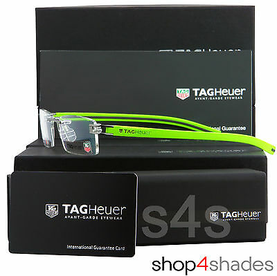TAG Heuer Reflex Fold Track S Rimless Glasses Frame Anise_Grey_Lava 7641 014 52