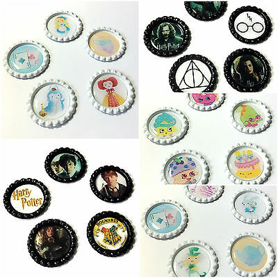 Bottle Caps with Images & Epoxy Stickers Hairbow Centres Cabochons Decoden