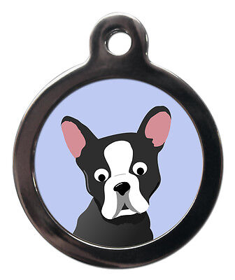 Boston Terrier Breed Cute Fun Pet Tags - Dog ID Collar Tag