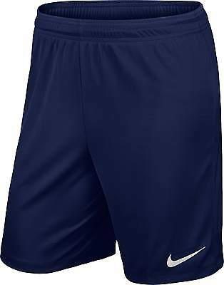 Shorts Football/ Soccer Nike Park Ii Mens S- Xxl Navy Blue Geniune Nike Product