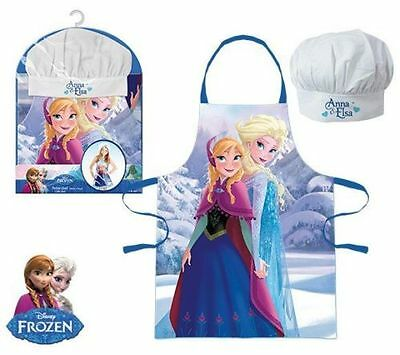 Girls Disney Frozen Anna & Elsa Chef Set Apron & Hat