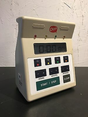 Don Commercial Restaurant Kitchen Digital Timer - 4 Event LCD