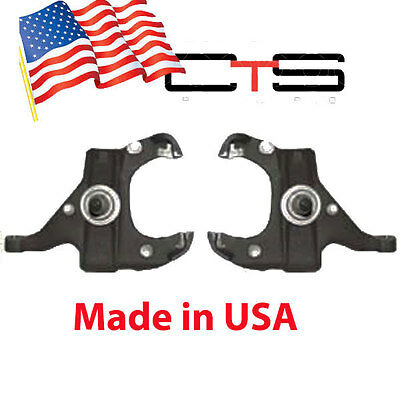 """73-87 CHEVY C10 2.5"""" FRONT DROP SPINDLES 1.25"""" Rotor Suspension Lowering kit"""