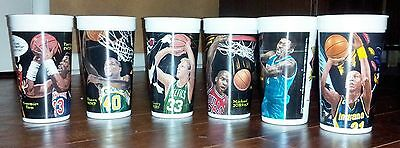 1995 McDONALD'S LOONEY TUNES ALL-STAR CUPS COMPLETE SET 6: MICHAEL JORDAN BIRD +