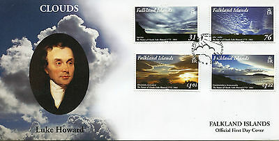 Falkland Islands 2015 FDC Clouds Luke Howard Namer of Clouds 4v Set Cover Stamps