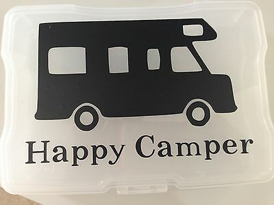 Happy Camper Vinyl Decal Rv Style Camping