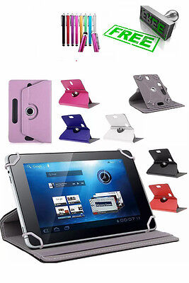 "Universal 360 Rotatable Leather Stand Case Cover For 9 10"" Tab Android Tablet PC"