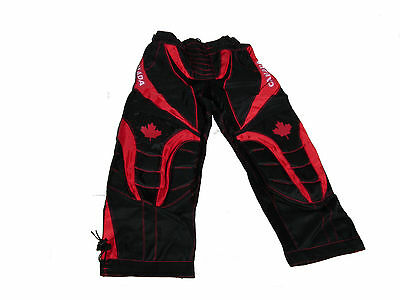 Paintball Padded Pants Canada Edition Red Large