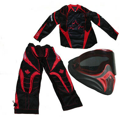 Paintball Padded Jersey & Pants Canada Edition Red/ Black & Empire Avatar Red