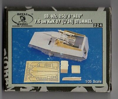 "ROYAL MODEL  224 - SD.Kfz.250/8 ""NEU"" 7.5cm KwK 37 (L/24) STUMMEL 1/35 RESIN KIT"