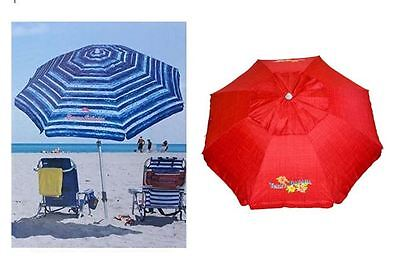 Tommy Bahama 2017 Sand Anchor 7ft Beach Umbrella w/Telescoping Pole- BLUE OR RED