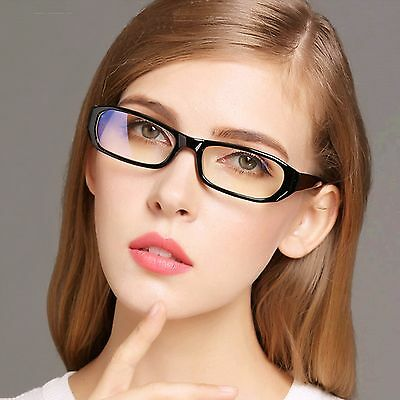 Clear Lens Fashion Geek Glasses Black Frame