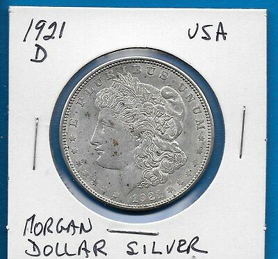 1921 D Usa Morgan Silver Dollar - High Grade