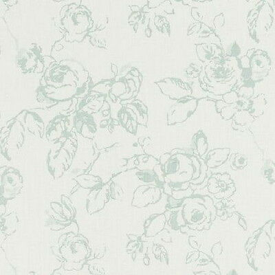 Clarke and Clarke - Delphine - Duckegg - Large Fabric Remnant - 20cm x 133cm
